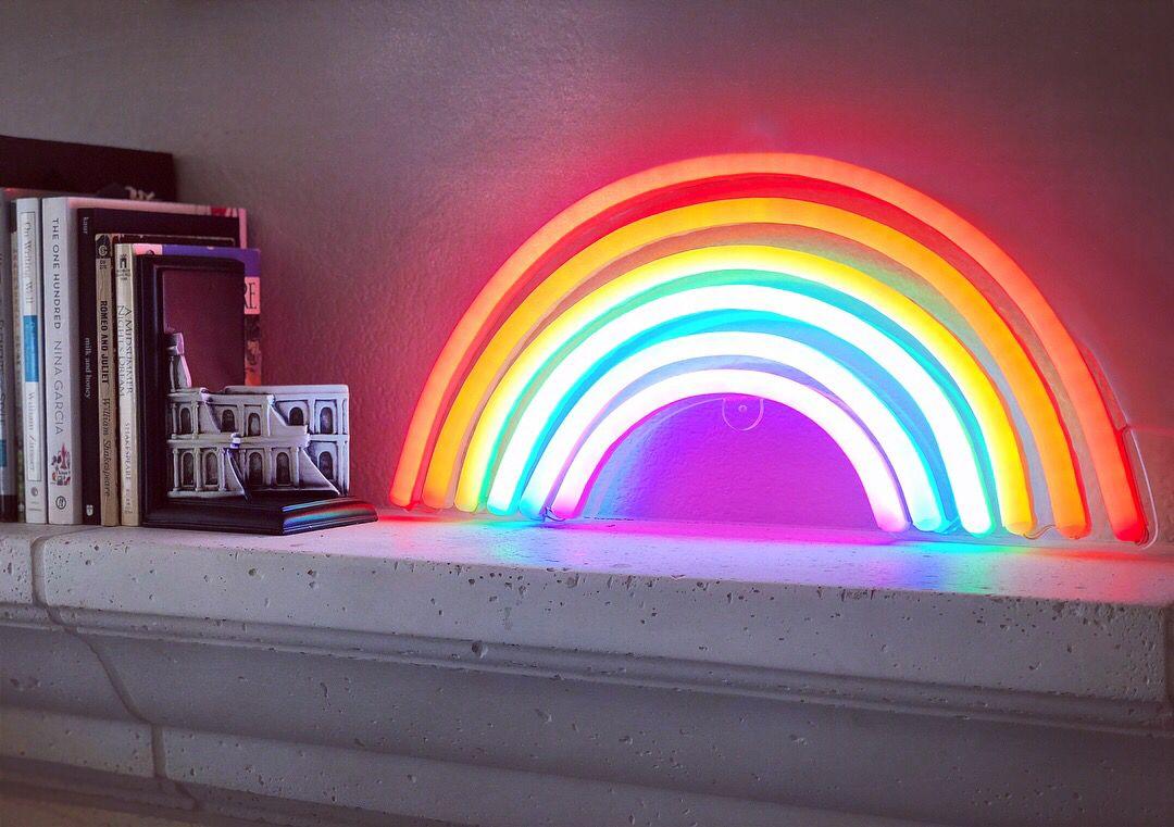 Rainbow neon sign 4