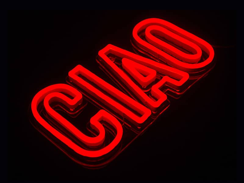 CIAO neon signs for home and restaurant