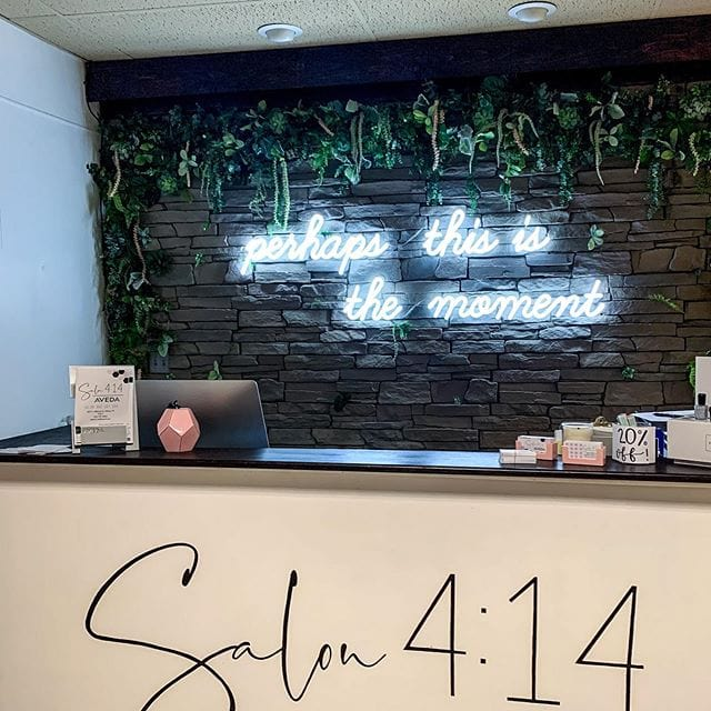 custom neon sign for business recepiton