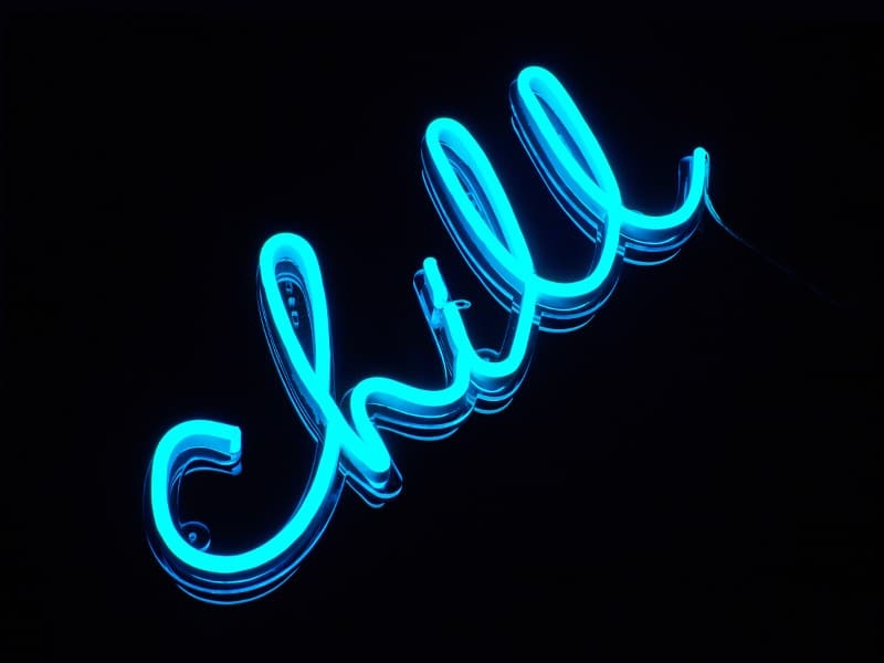 chill neon sign best custom neon signs for gifts, office and home