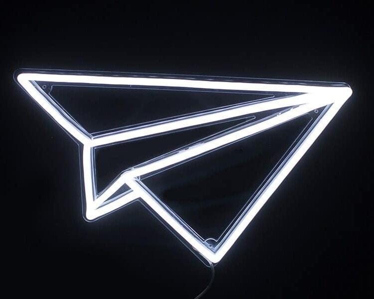 Paper Plane Neon Sign