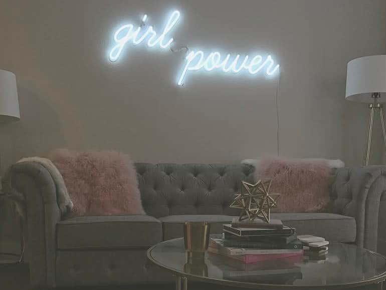 girl power neon sign