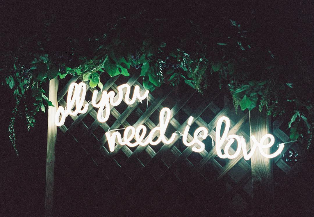 all you need is love(green wall) neon sign