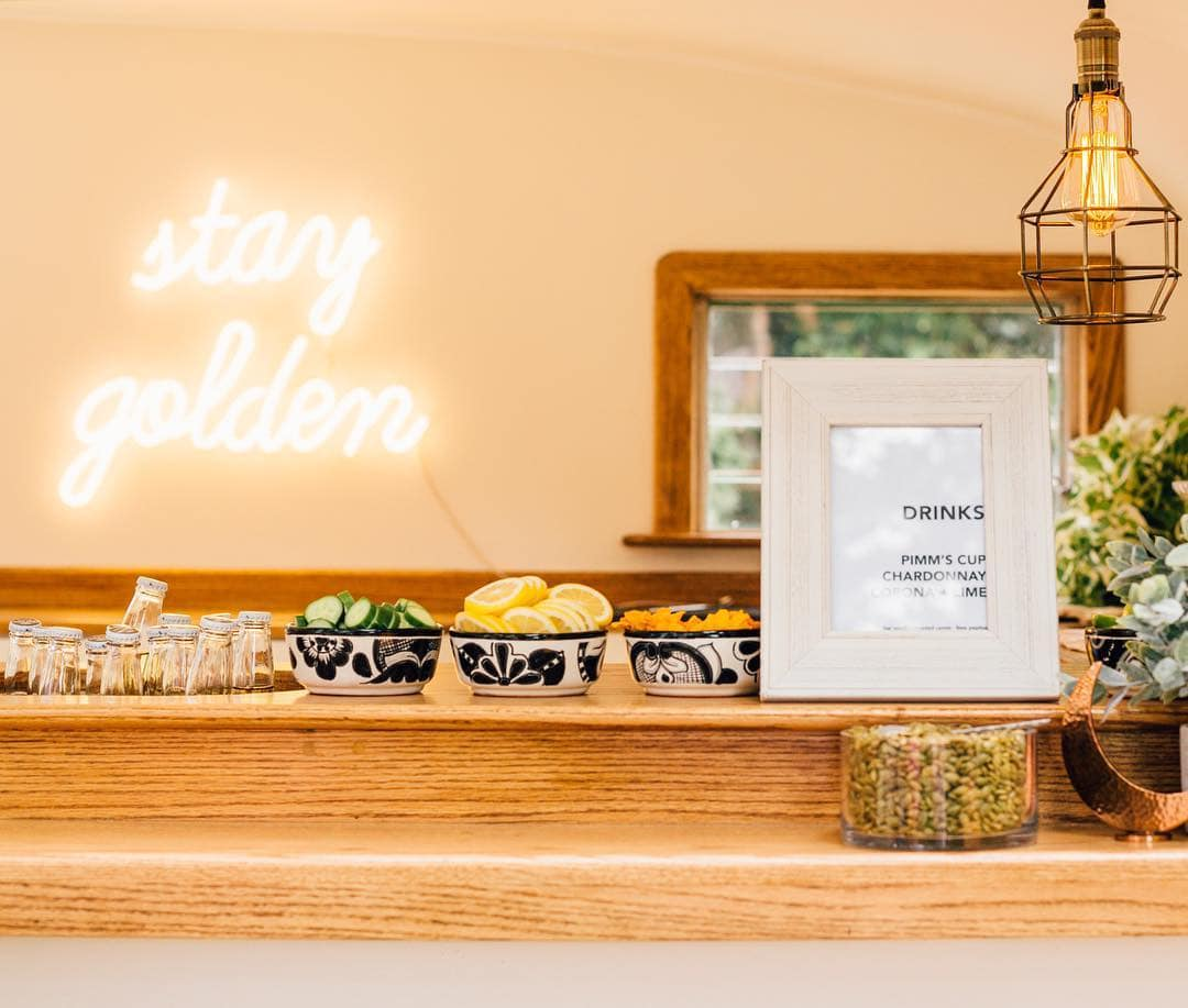 stay golden neon sign