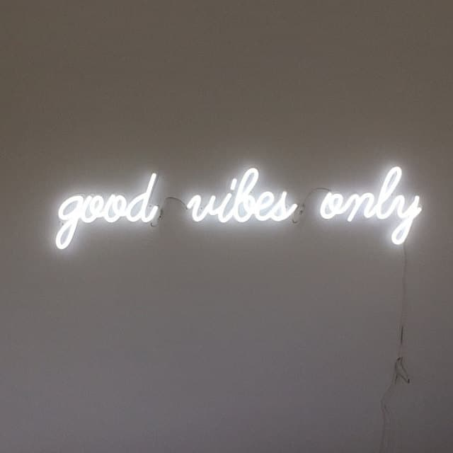 good vibes only (single line) neon sign