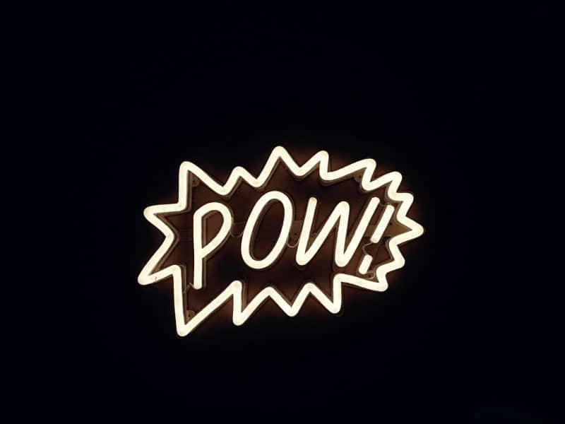 pow neon sign