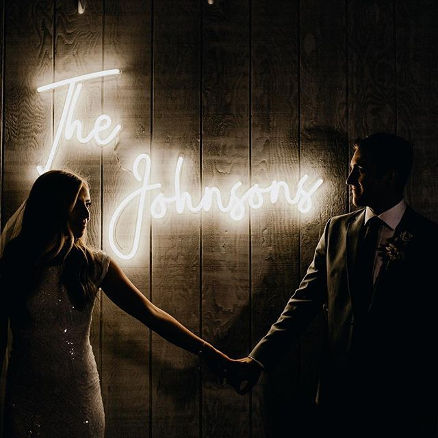 custom neon signs for wedding