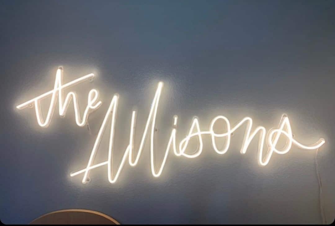 custom neon sign surname