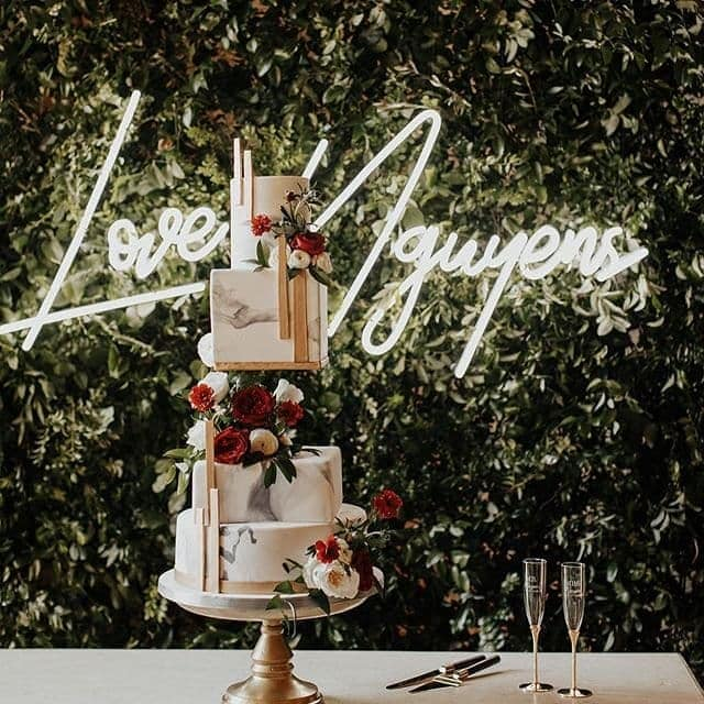 event neon sign