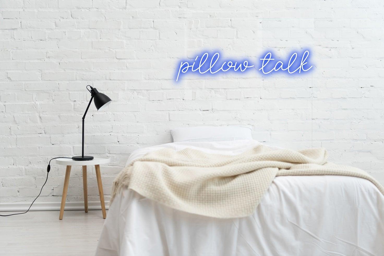bedroom neon sign