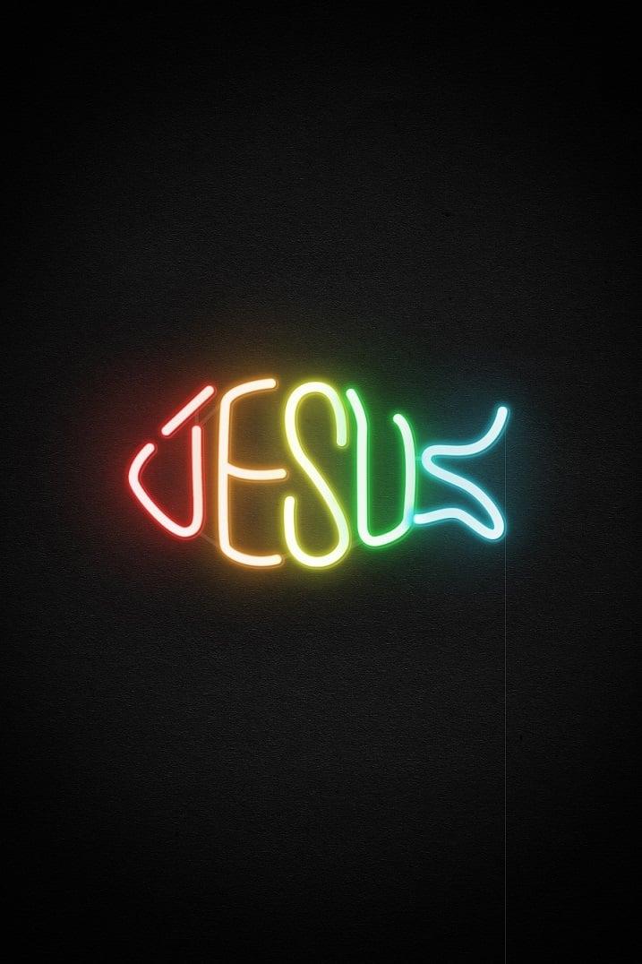 jesus fish neon sign