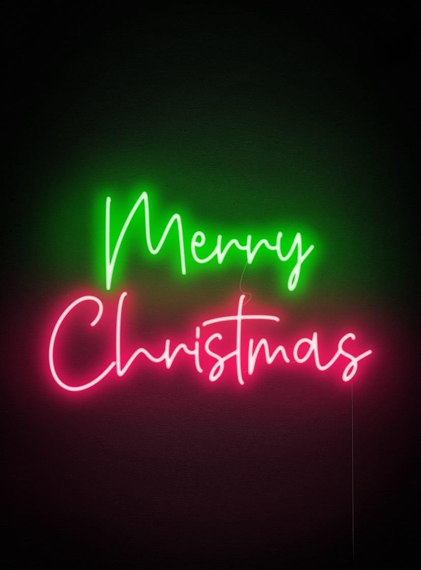 Christmas custom neon sign