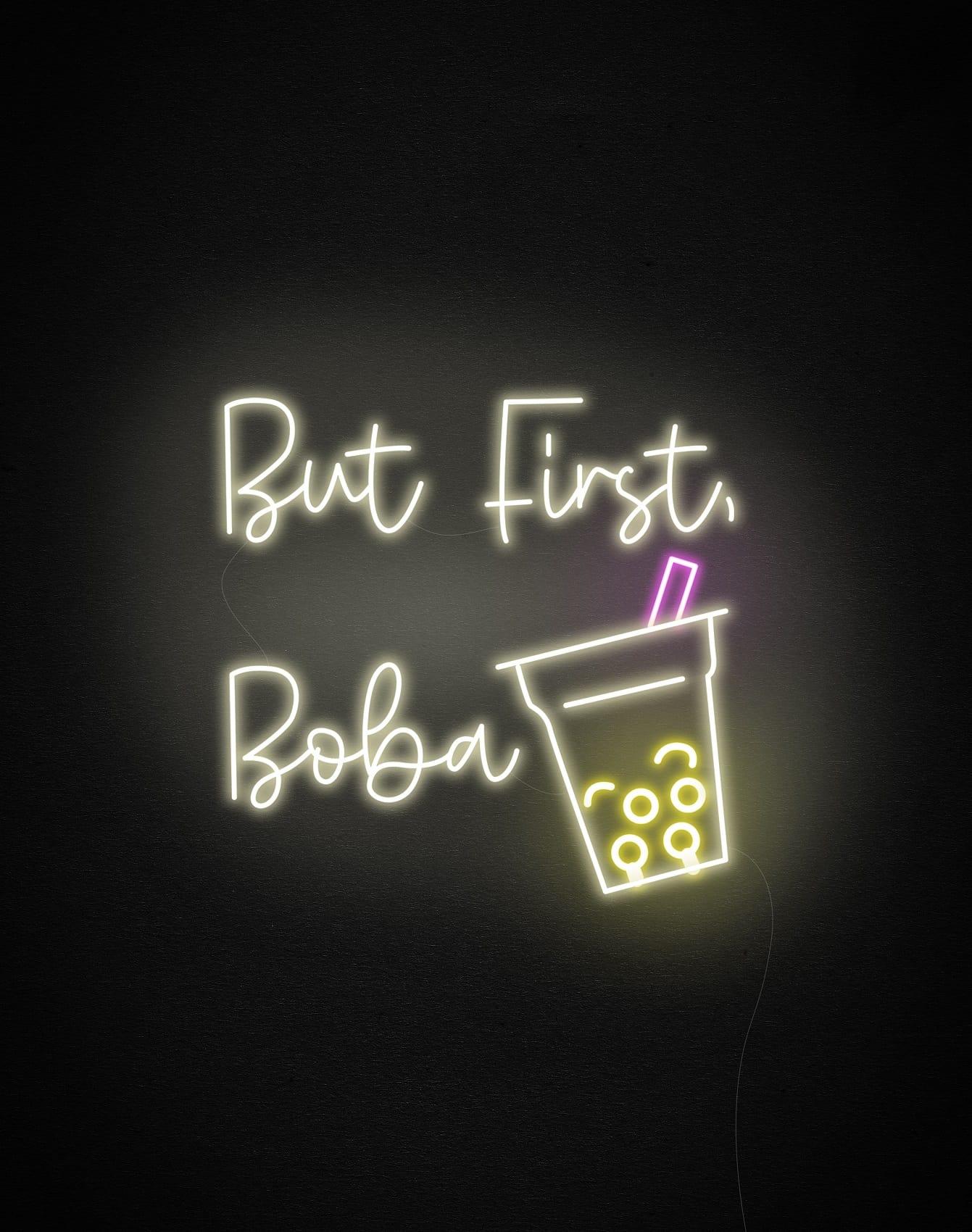 boba neon signs