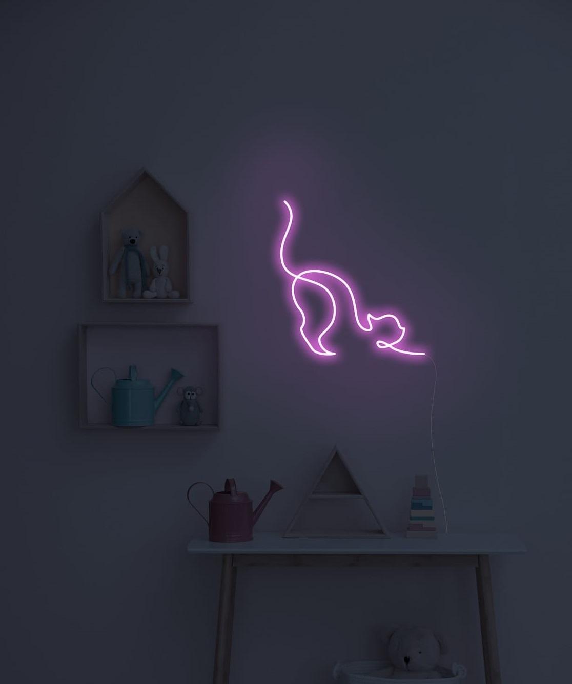 cat neon sign