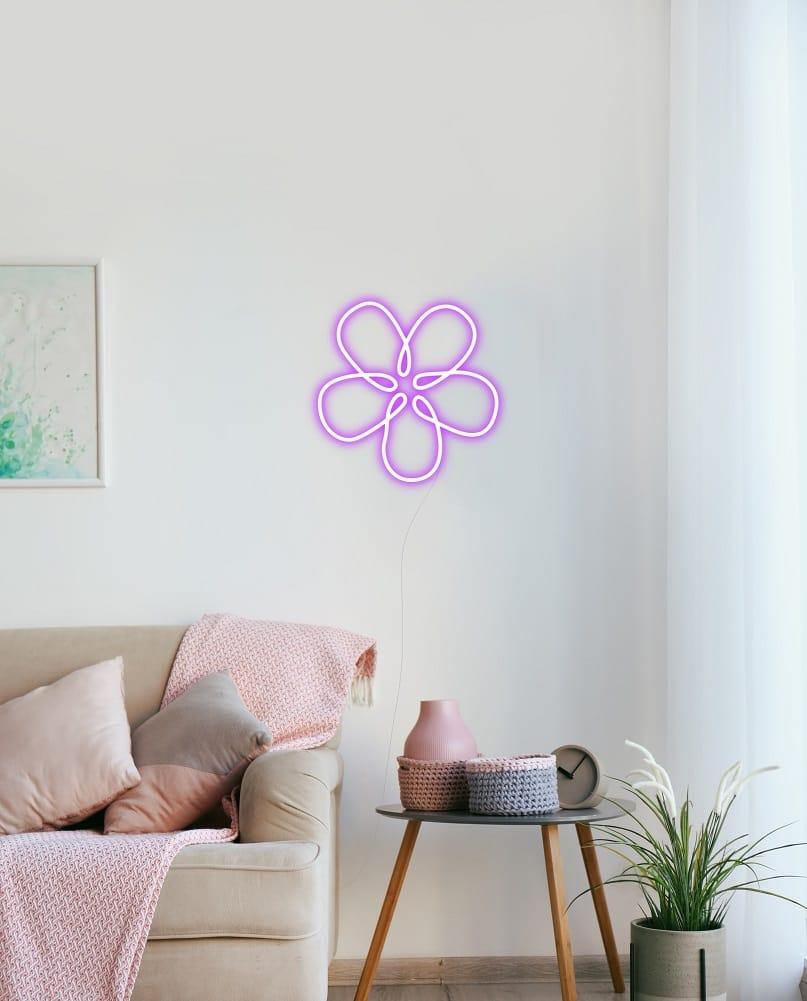 flower neon sign