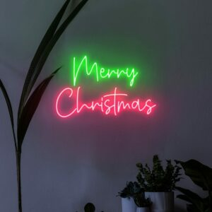 holiday neon sign