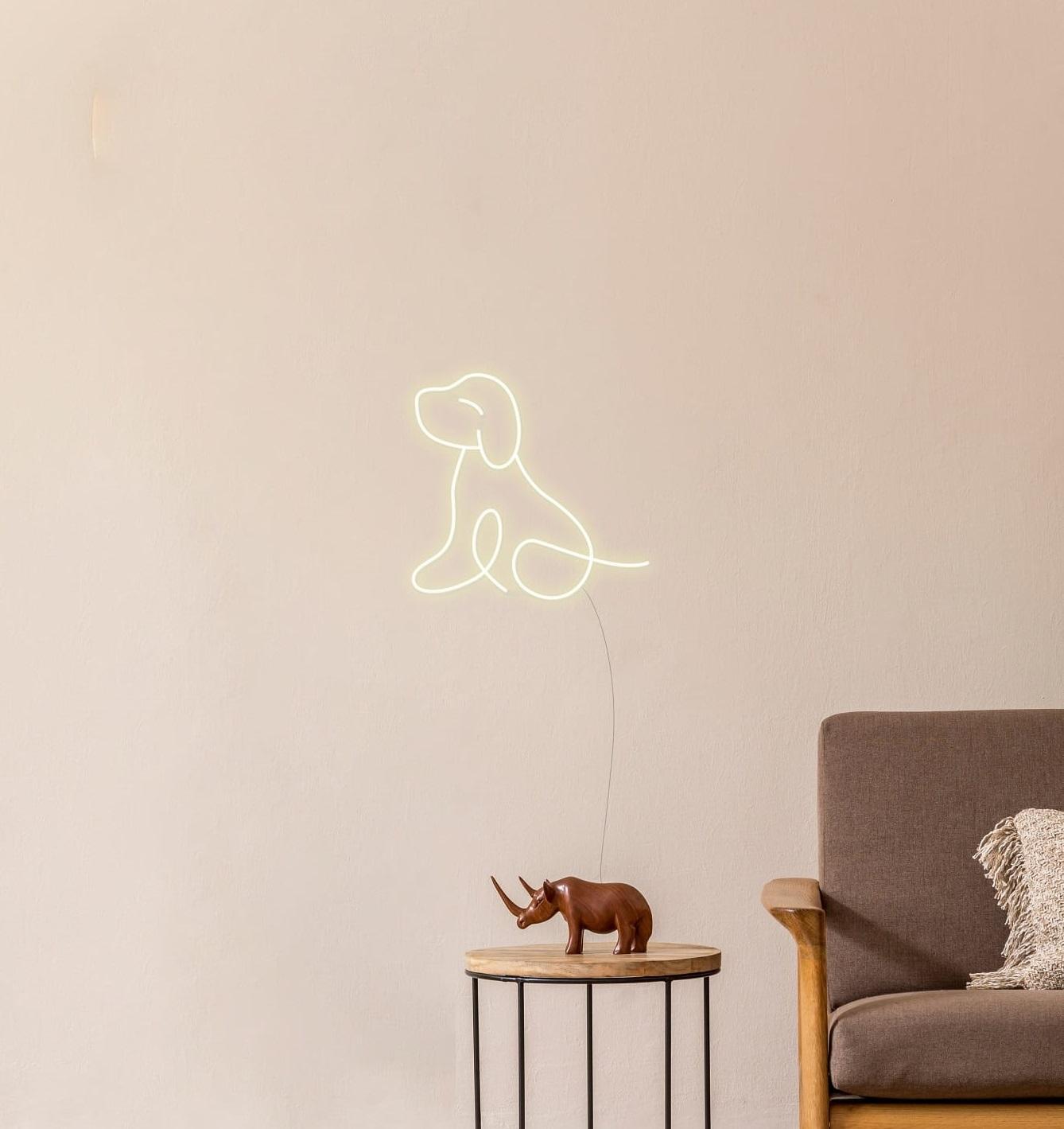 puppy neon sign
