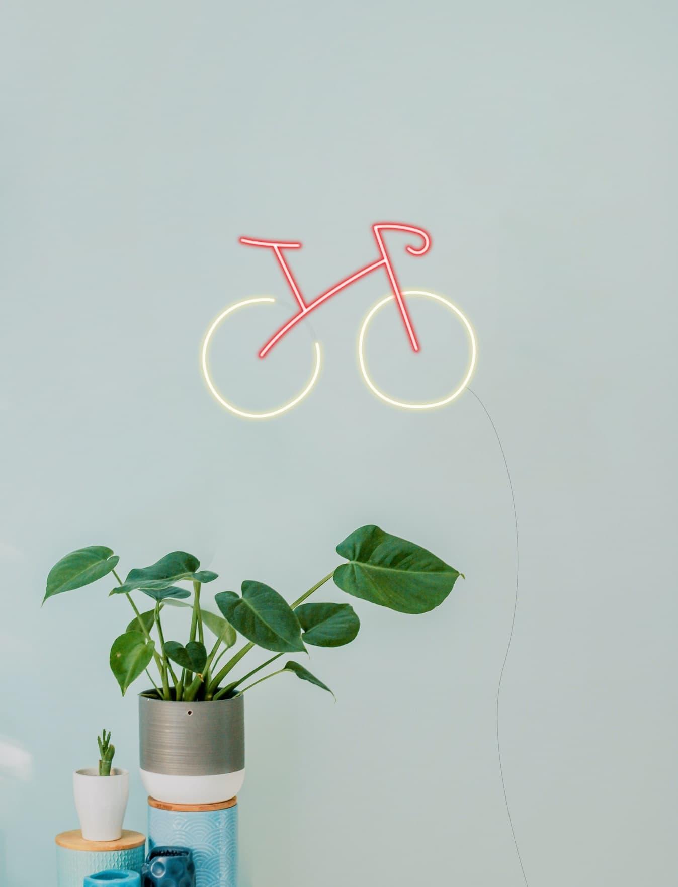 bike neon sign