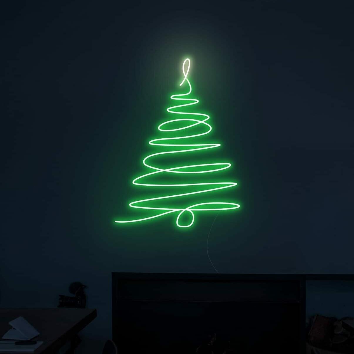 christmas tree neon sign