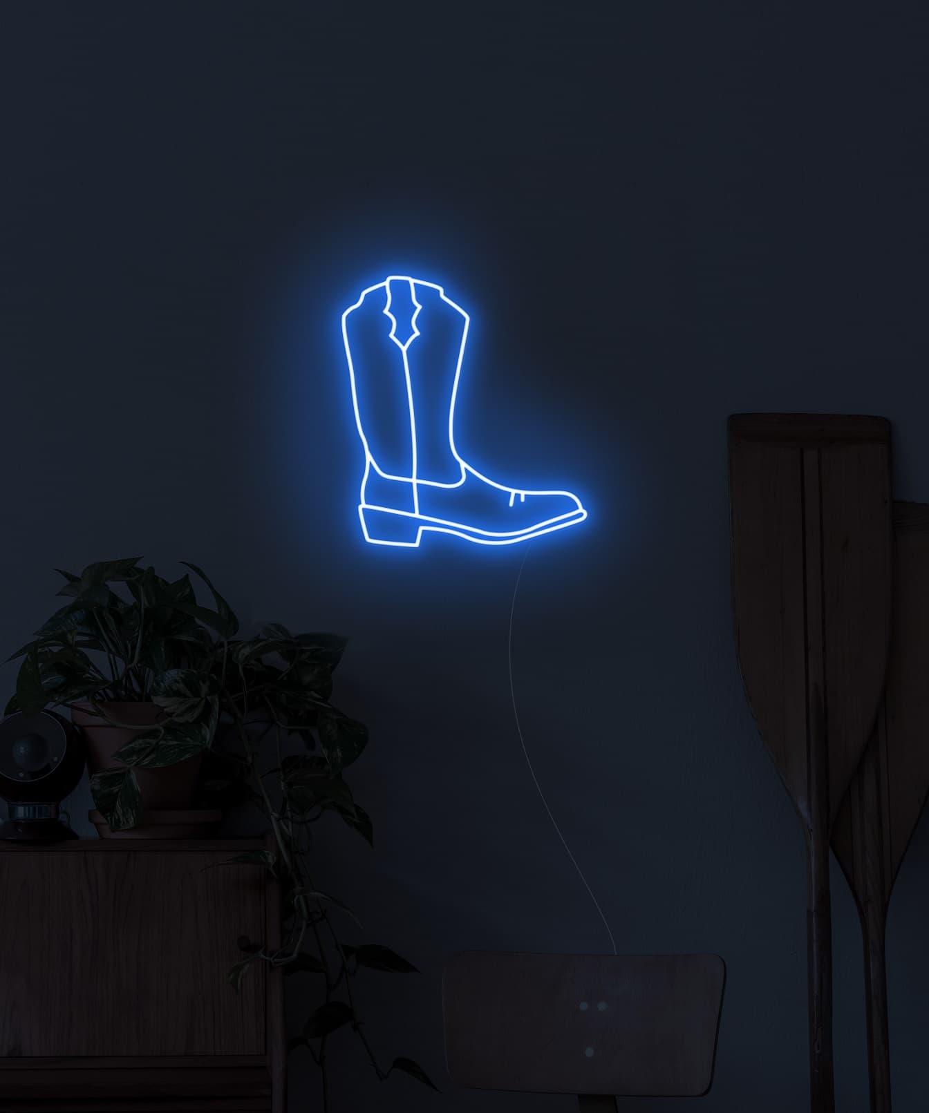 wall art neon light