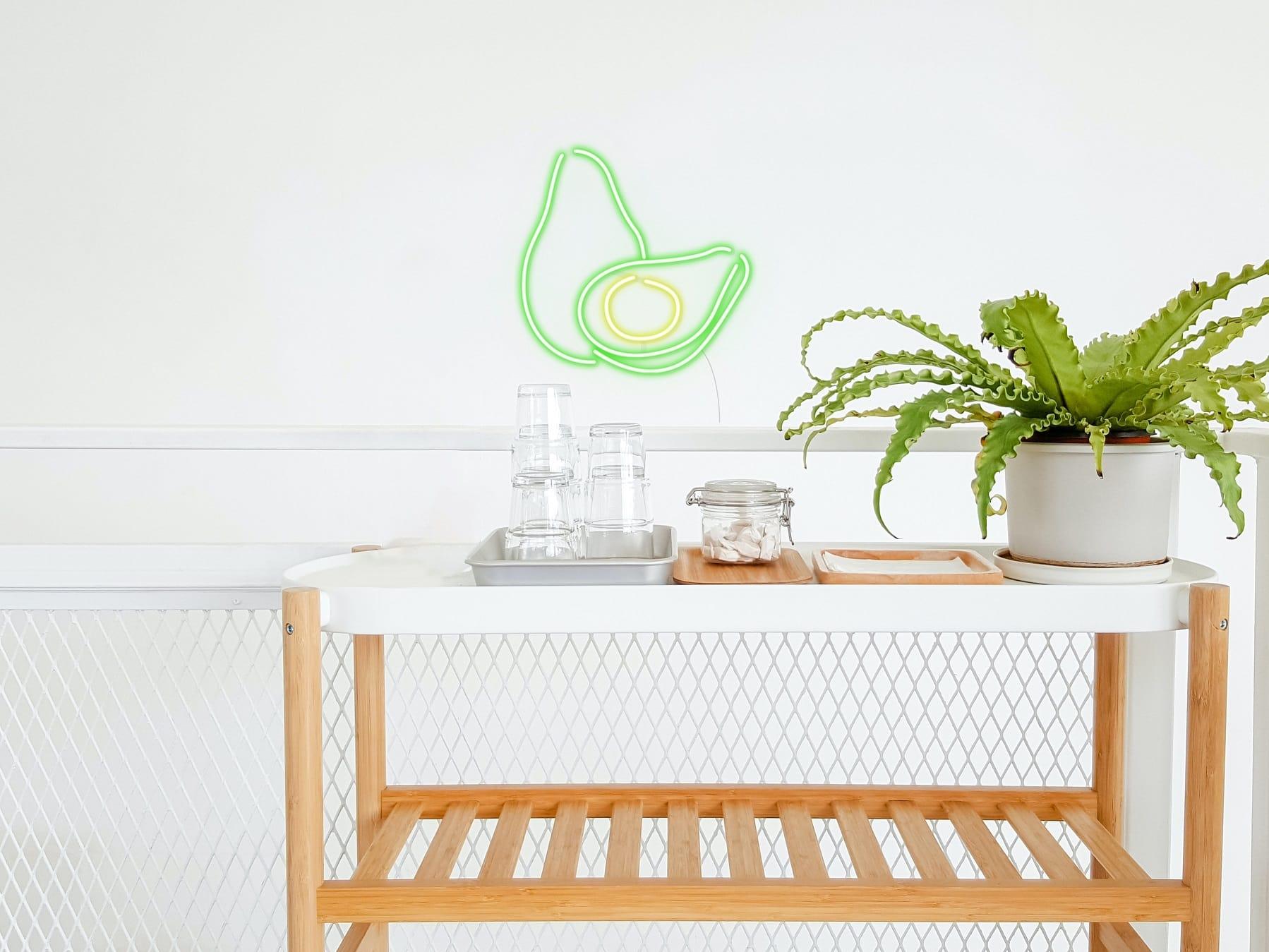 avocado neon lights