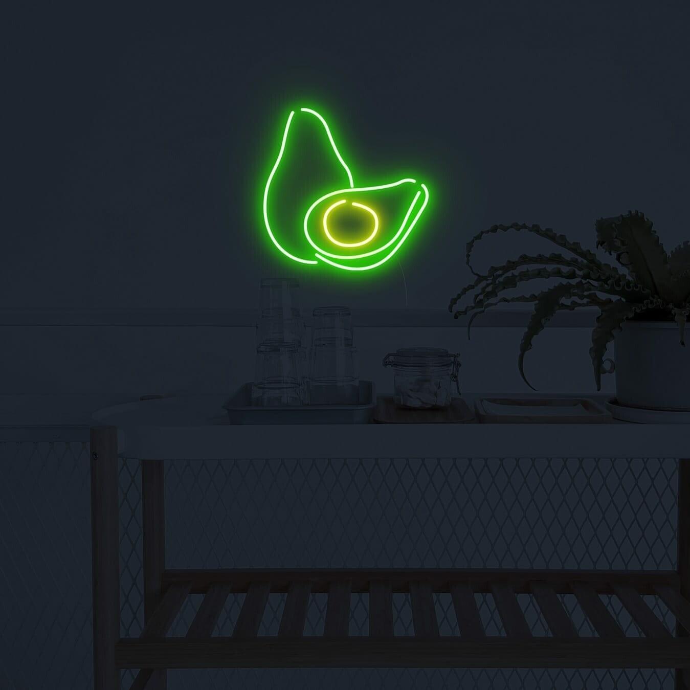 avocado neon sign