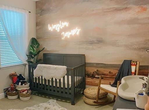 baby room neon sign