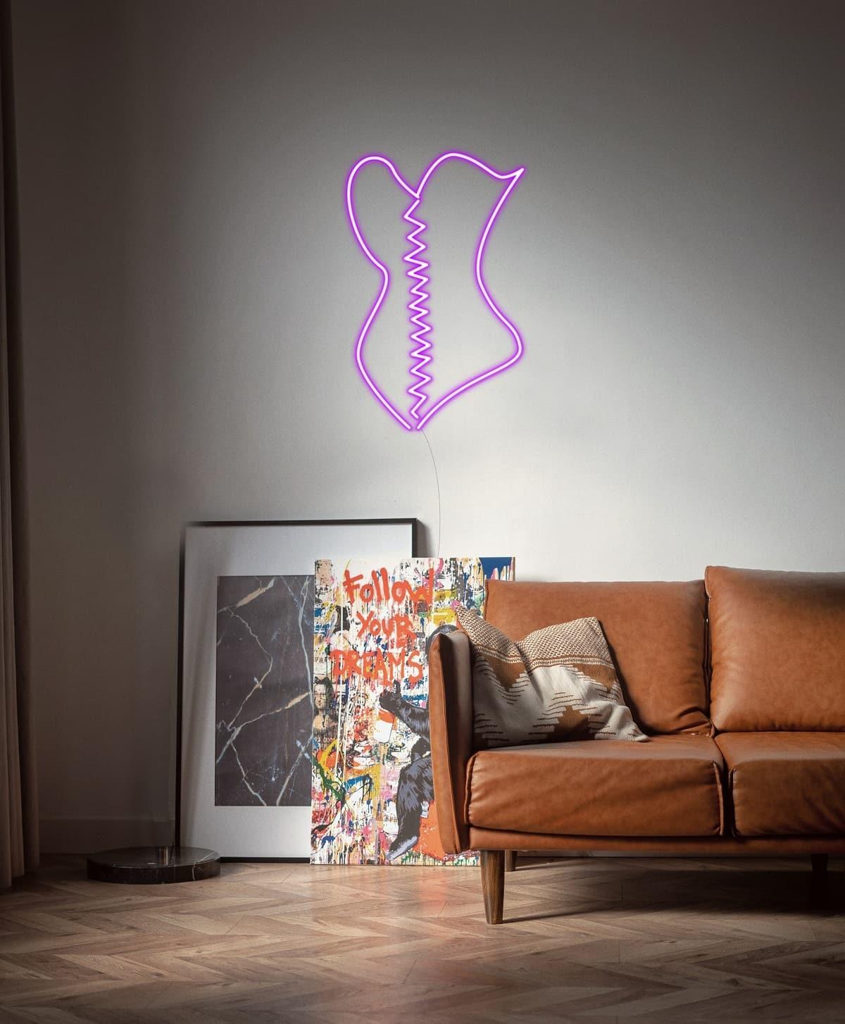 corset neon light