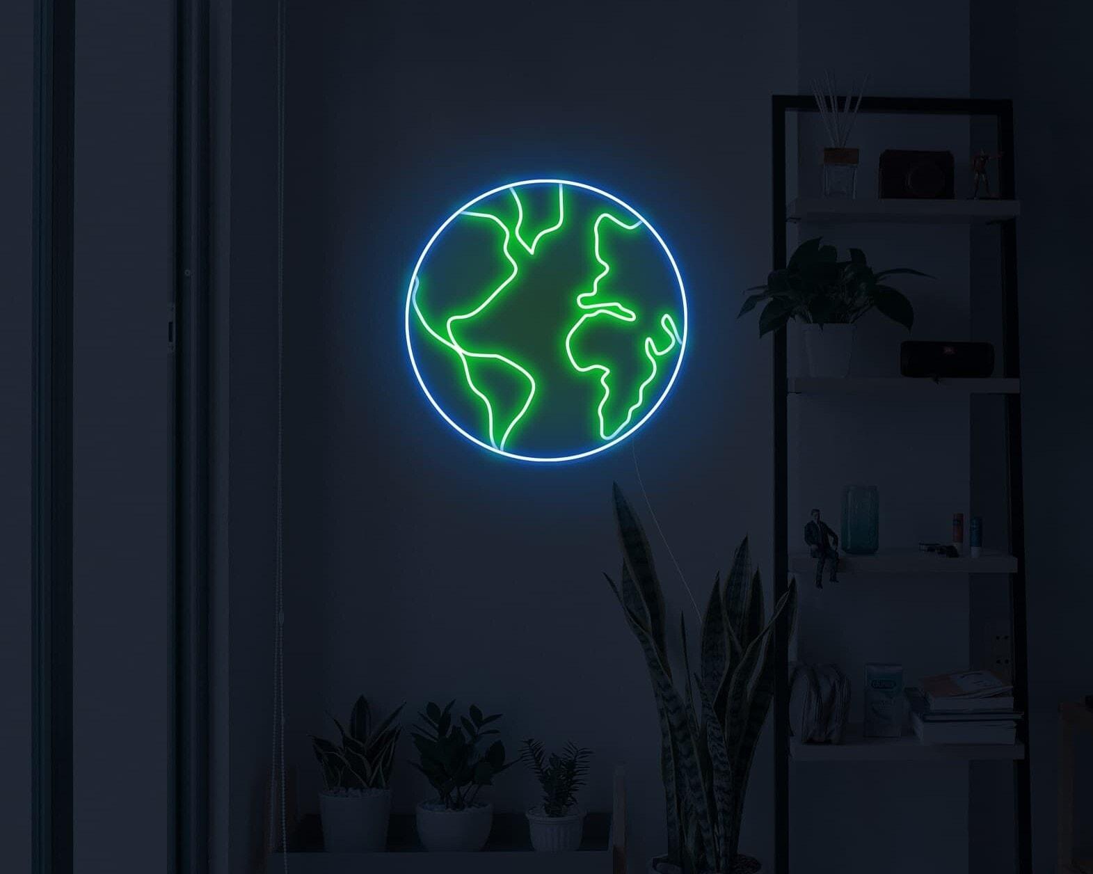 earth neon light