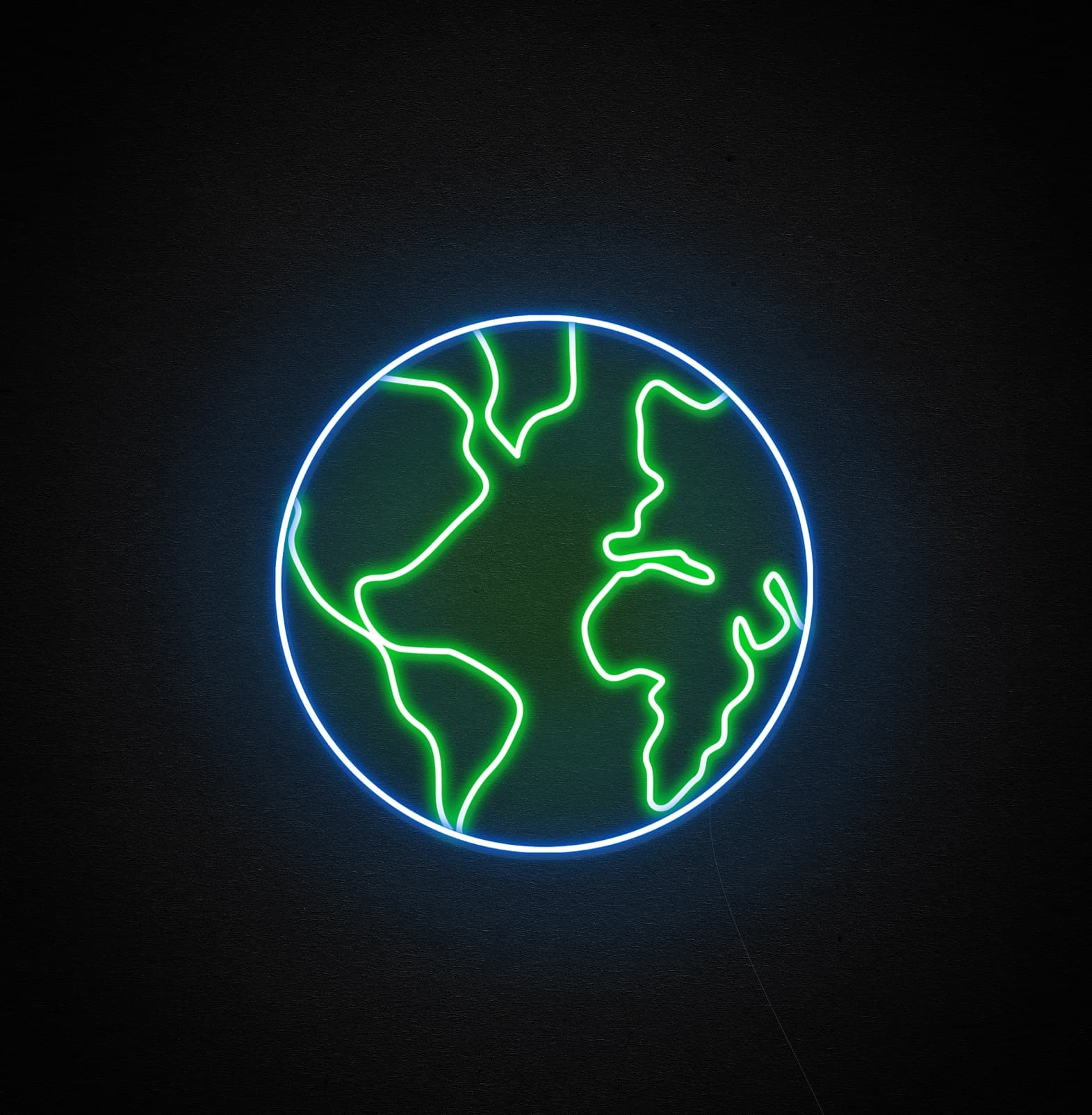 earth neon signs