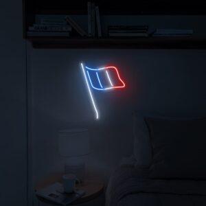 france flag neon light