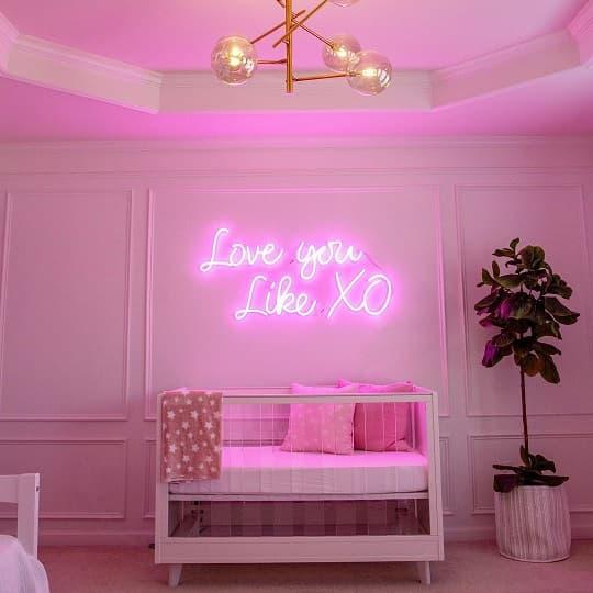 girl's room neon light