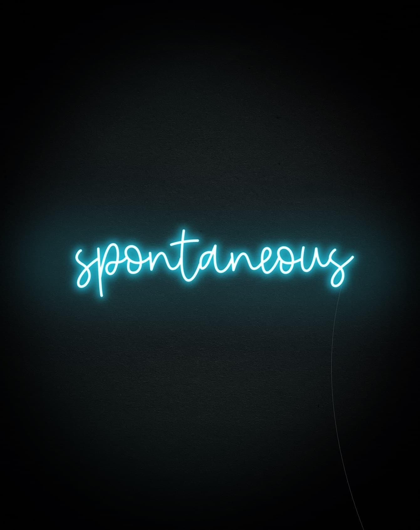 spontaneous neon light