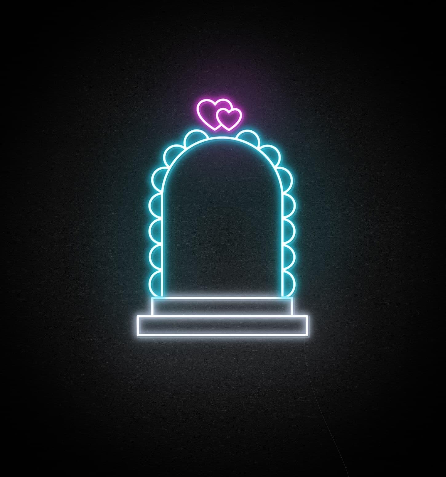 wedding aisle neon light