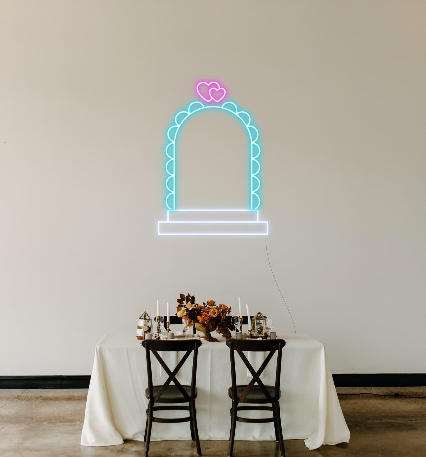 wedding aisle neon sign