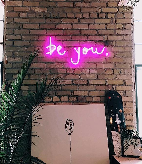 be you bar neon light