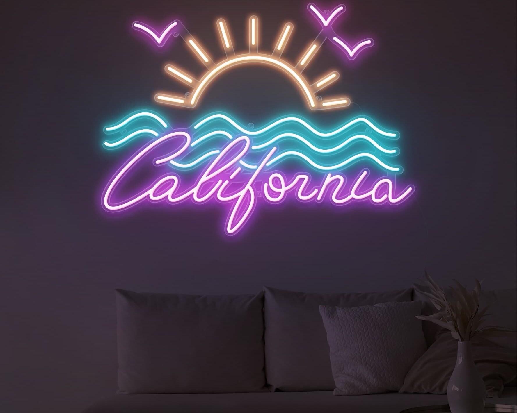 california sunrise neon light