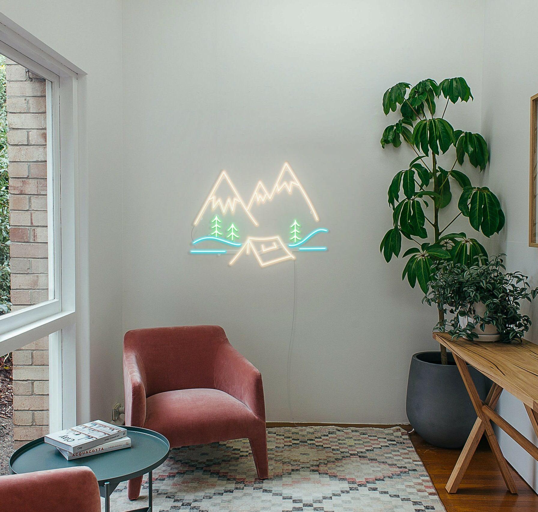 camping neon light