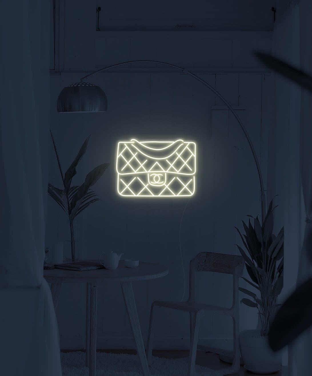 chanel neon signs