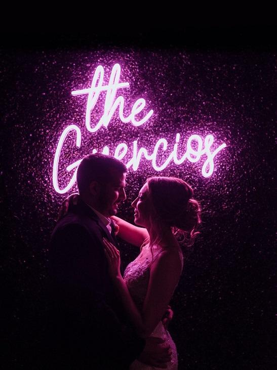 chelsea miller wedding neon