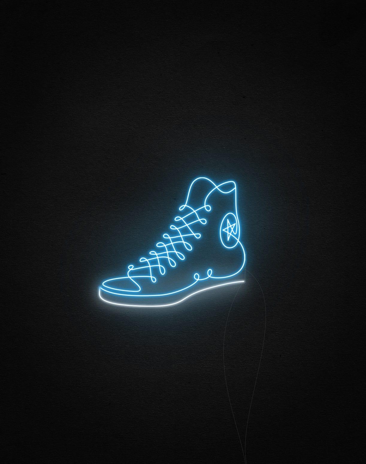 converse neon light