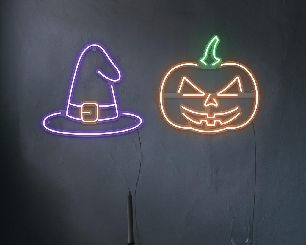 halloween neon light
