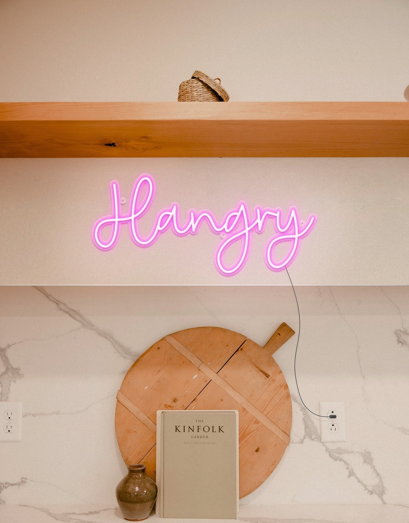 hangry neon sign