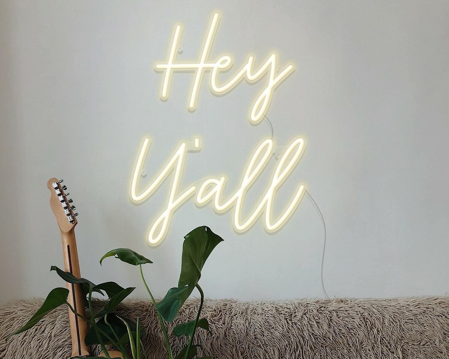 hey yall neon light
