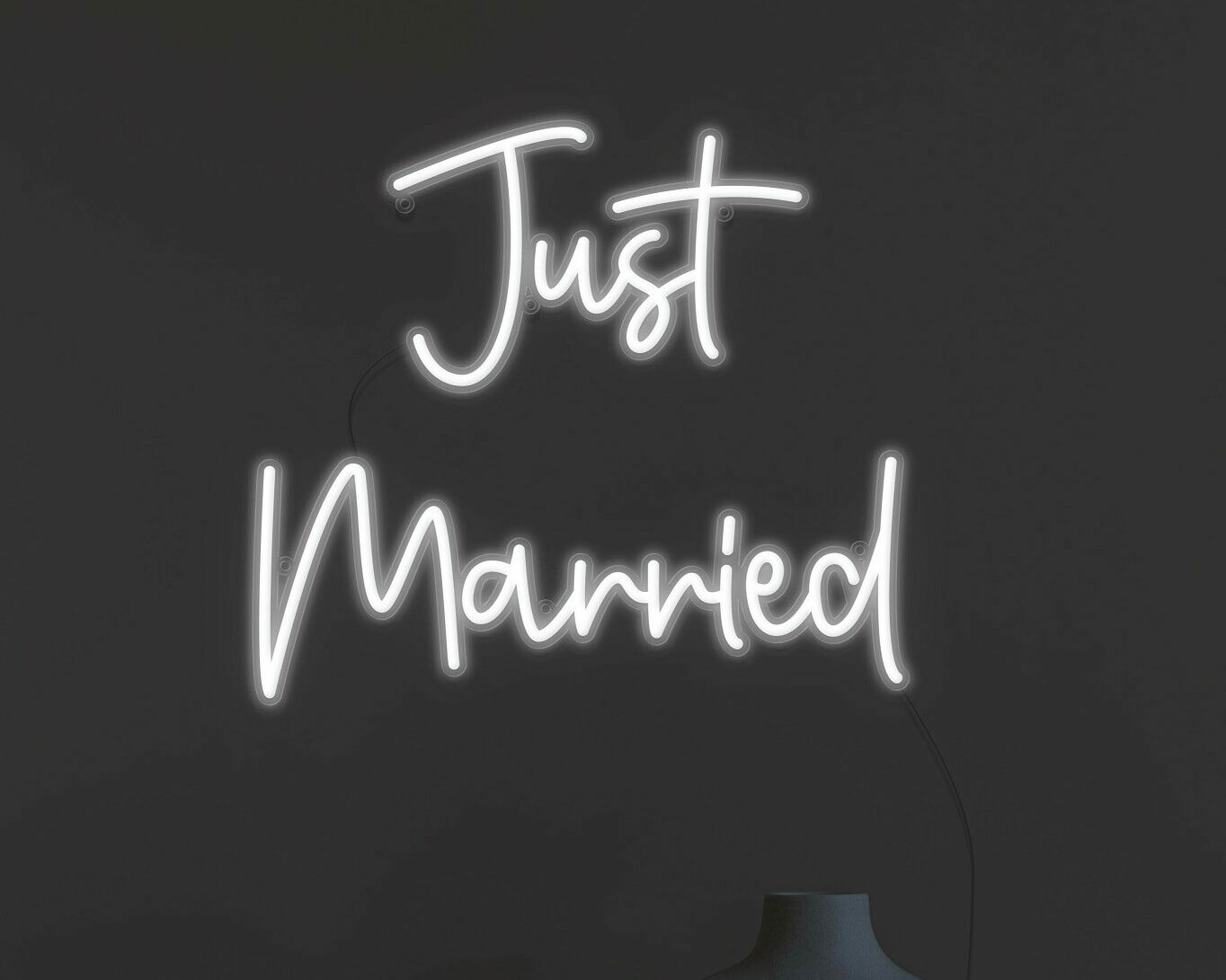 just married neon light