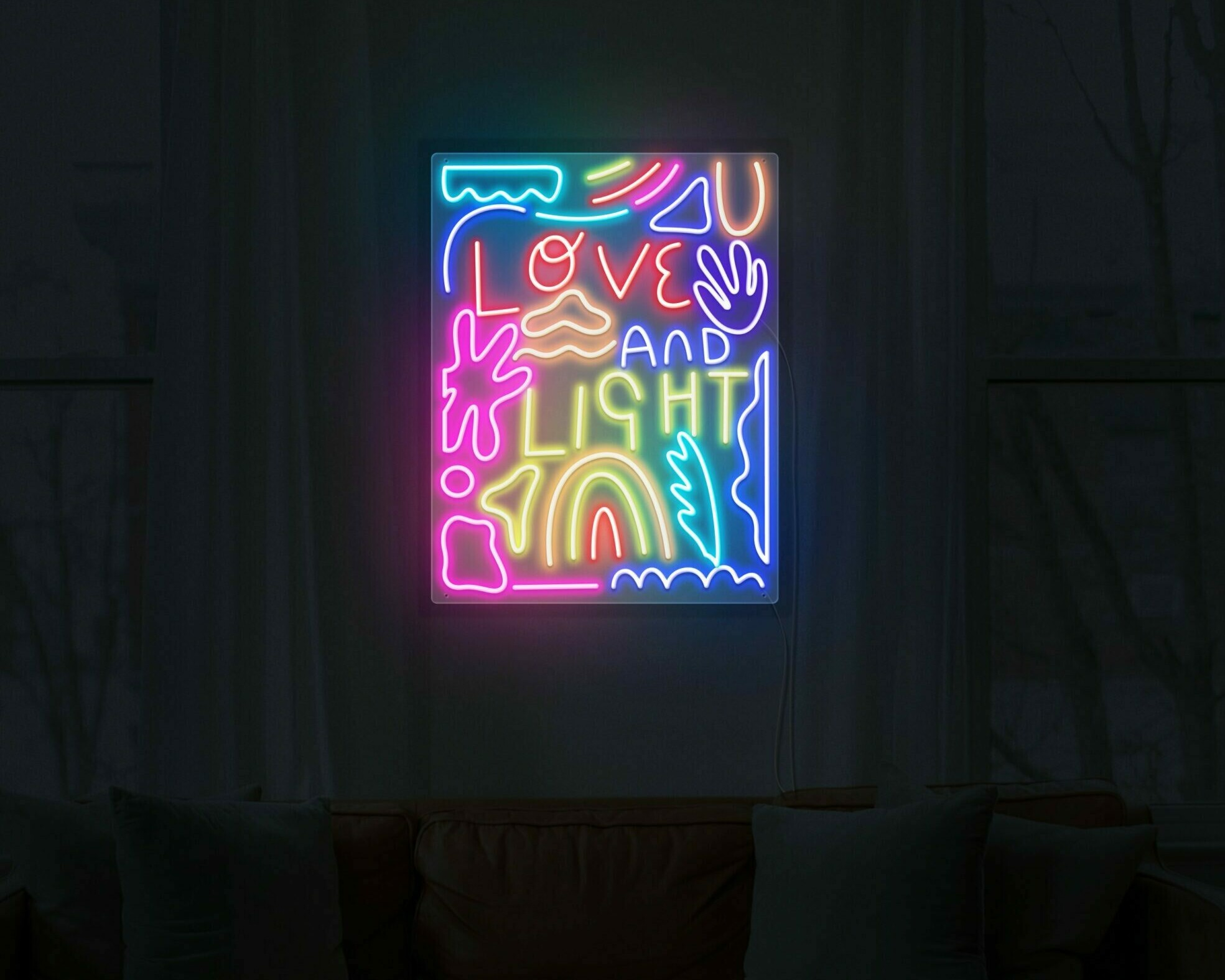 love and light neon light