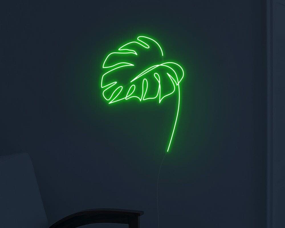 palm leaf neon sign