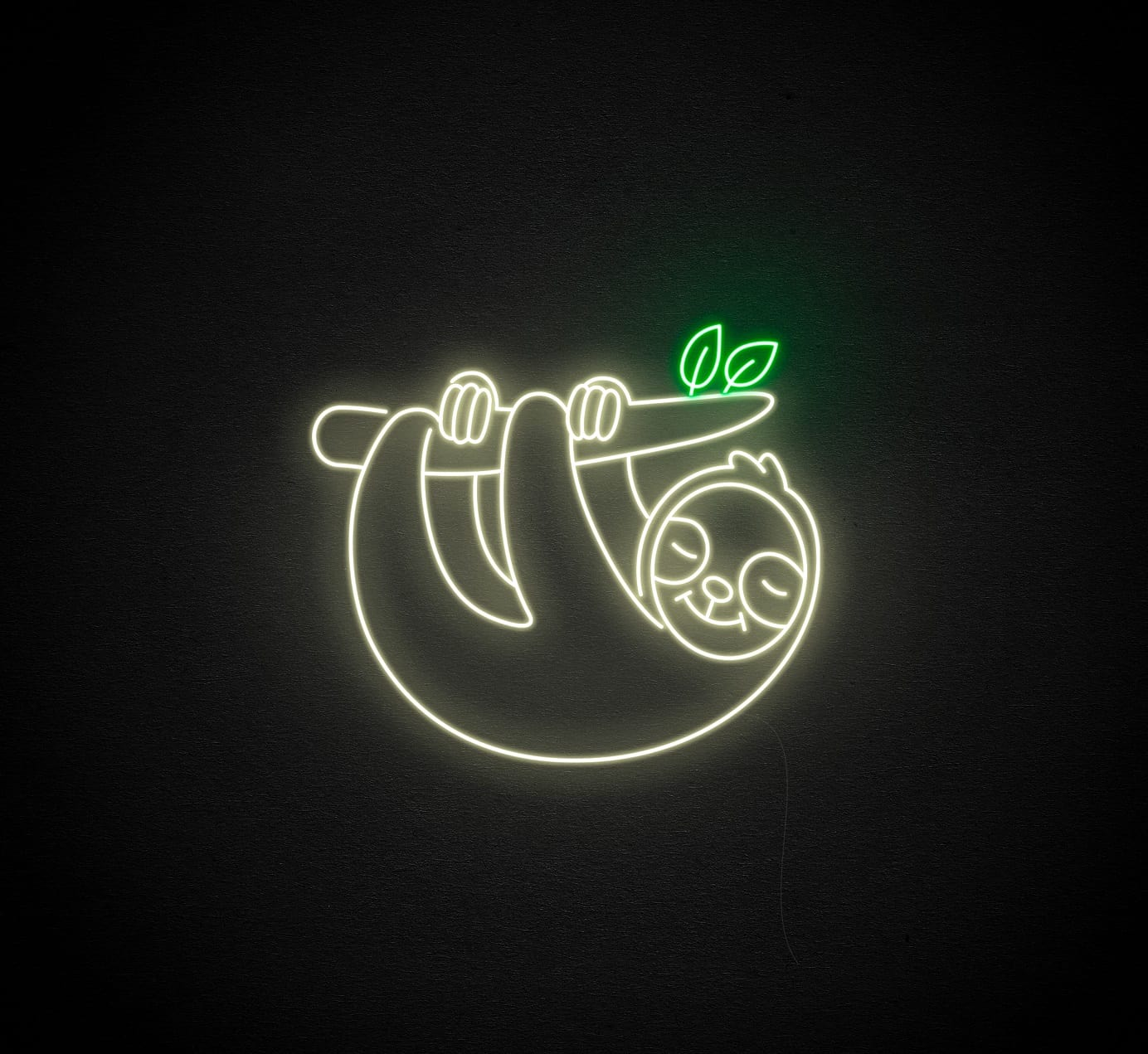 sloth neon light
