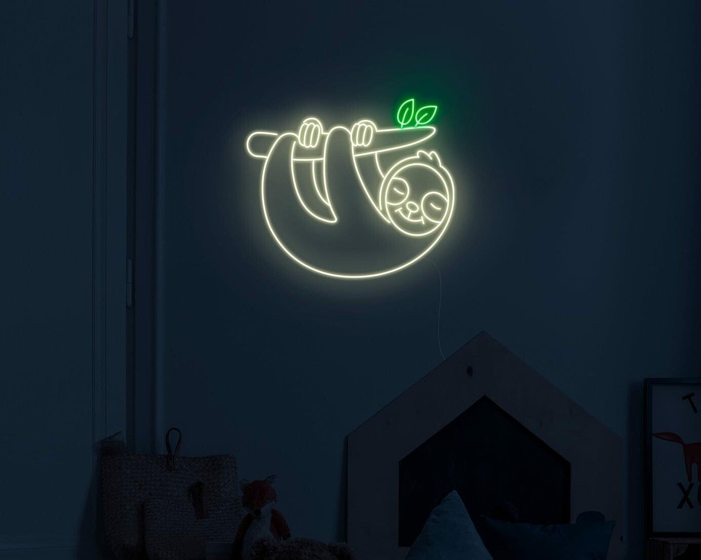 sloth neon sign