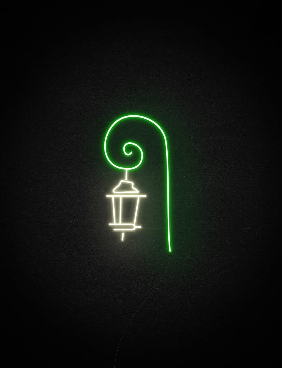 street lamp neon light